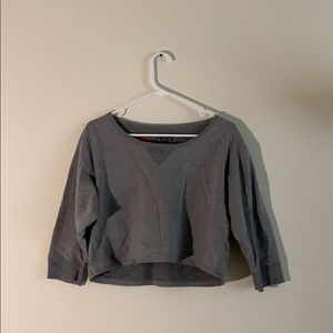 Grey Midriff with half sleeves